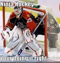 Ninja Hockey Your doing it right - Cheezburger