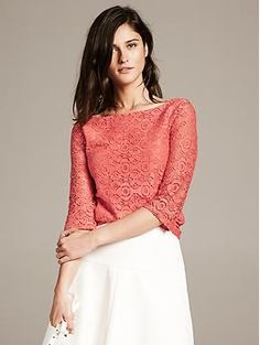 Pair with jeans or slacks. Great for those casual social events. Pair with the Thea sandal.   Mosaic Lace Top - Shirts