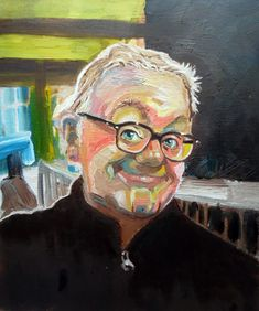 Caricaturist Portrait Artist? THE SKY ARTS Portrait Artist of the Year competition for 2018 is on our screens at the moment, for those of us who can watch Sky. The deadline is tomorrow (Monday 19th March) and I had to have a self-portrait. This made a refreshing change for me.