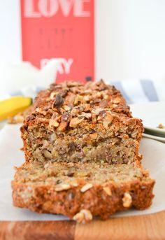 Banana bread [vegan] poudre d'amandes & créneaux de noix • Des Fruits et des Légumes