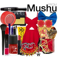 Mulan by wearwhatyouwatch on Polyvore featuring Topshop, ALDO, Edie Parker, Queensbee, Vince Camuto, Lancôme, NARS Cosmetics, INIKA, Obsessive Compulsive Cosmetics and Bourjois