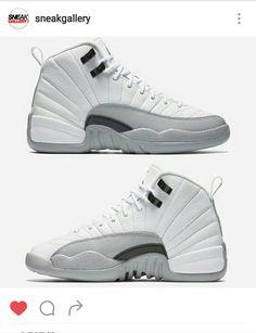 2d79eb4dcbc0 Jordans grey and white 12 s Jordan Retro 12