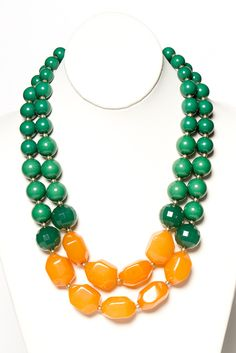butterscotch bauble necklace.