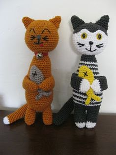 Crochet Cat Pattern with Fish Body. Adorable! ☀CQ #crochet Thanks for sharing! ¯\_(ツ)_/¯