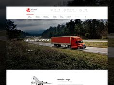 Logistic Transport & Trucking Website by Unidack #Design Popular #Dribbble #shots