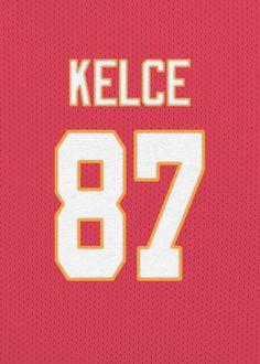Kansas Chiefs, Chiefs Logo, Dodgers Baseball, Football, Kelce Chiefs, Travis Kelce, Poster Prints, Art Prints, Jr