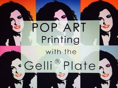 Pop Art with the Gelli® Printing Plates! -- Follow along as Roberta creates a Pop Art Gelli® Print of her own 'likeness' using handmade stencils/masks and acrylic paints! Fun tutorial for all ages!