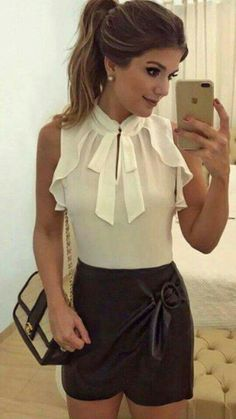 Discover recipes, home ideas, style inspiration and other ideas to try. Summer Fashion Outfits, Cute Summer Outfits, Short Outfits, Trendy Outfits, Short Dresses, Cute Outfits, Chiffon Tops, Casual, Blouses