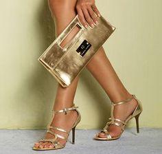 Conjunto e sapato e bolsa