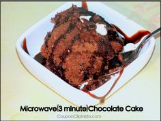 MICROWAVE CHOCOLATE CAKE (made in 3 minutes) Yummy!
