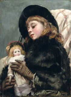 Thomas Benjamin Kennington (1856-1916), Girl with doll