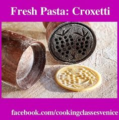 COOKING CLASS with Mama Isa's Cooking Classes in Venice in Italy is now in session!   Today we are making fresh pasta from Liguria region: CROXETTI