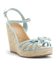 Take a look at this Aqua Diza Espadrille by Kelsi Dagger on #zulily today!