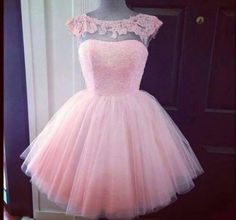 Pink Short Prom Dresses,Cap Sleeve Homecoming Dress