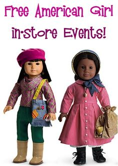 FREE American Girl in-Store Events! {+ discount outfits}