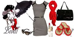 black and red New Fashion, Fashion Outfits, Bodycon Dress, Red, Clothes, Black, Dresses, Women, Outfits