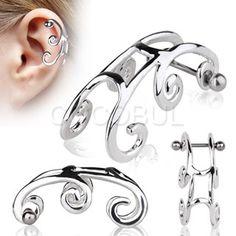 316L Surgical Steel Swirl Cartilage Earring