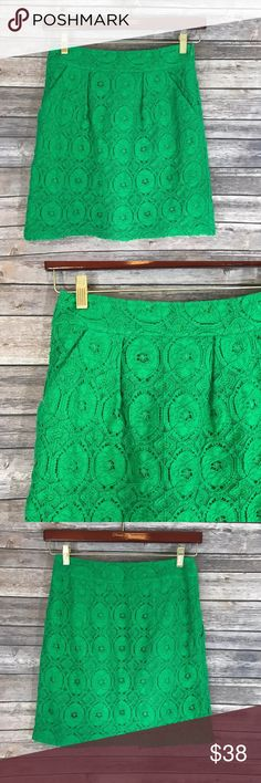 Beth Bowley Anthropologie Womens Skirt Size 2 Beth Bowley Anthropologie Womens Skirt Size 2 Kelly Green Lace Pockets. Measurements: In inches Waist:26 Length:18.5 Anthropologie Skirts A-Line or Full