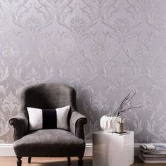 Oxford Silver / Grey Wallpaper by Graham and Brown