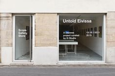 "dan-choi: "" Untold Eivissa Curated by Ill-Studio "" Signage Design, Facade Design, Exterior Design, Architecture Design, House Design, Cafe Signage, Window Signage, Retail Signage, Storefront Signage"