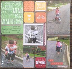 Memories scrapbook layout