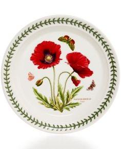 Portmeirion Botanic Garden Poppy Salad Plate - Red