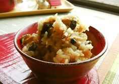 Mixed Rice with Autumn Shimeji Mushroom and Aburaage Recipe -  Very Delicious. You must try this recipe!