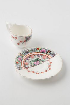 Unlikely Symmetry Roses Teacup & Saucer