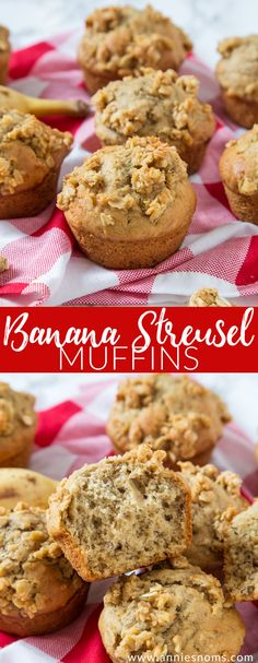 Super soft banana filled muffins with a crunchy streusel topping; these are one seriously delicious way to kick start your day!