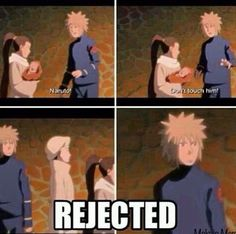 Poor Minato... if that was my ava they would have let me hold her even if they didnt like it