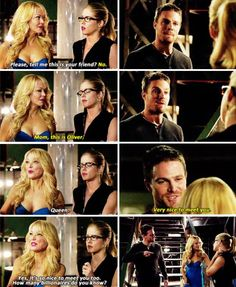 "#Arrow 3x05 ""The Secret Origin of Felicity Smoak"" - Oliver, Donna and Felicity"