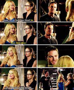"""#Arrow 3x05 """"The Secret Origin of Felicity Smoak"""" - Oliver, Donna and Felicity"""