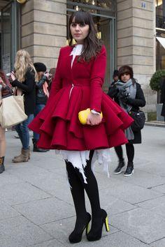 Paris Fashion Week 2013 Streetstyle before Isabel Marant - Trendbubbles