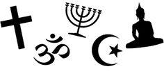 Resultado de imagem para simbolos de religiões