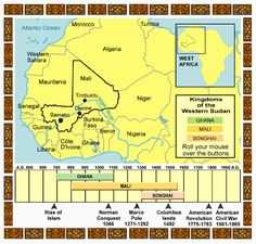 WorldNet Virginia: Mali - History West Africa, North Africa, Ghana Empire, Songhai Empire, Pilgrimage To Mecca, World History Classroom, Oral History, He Is Able, African History