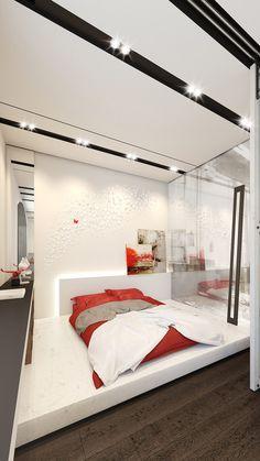 White Bedroom Design, Beautiful Bedroom Designs, Beautiful Bedrooms, Apartment Showcase, Apartment Design, Bedroom Themes, Home Decor Bedroom, Contemporary Bedroom, Modern Bedroom