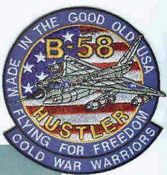 Strategic Air Command Bombers | Convair B 58 Hustler USAF Strategic Air Command Bomber Squadron Patch ...