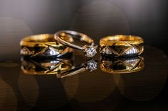 Wedding Rings, Engagement Ring, White Gold and Gold, Heirloom, Customized