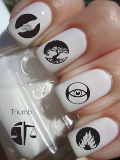 Divergent Fractions Nail Decals on Etsy, $4.50