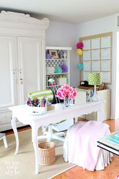 love this fancy table turned desk
