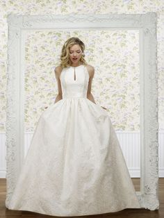The Steven Birnbaum Collection- Kim wedding gown, available at Something White, A Bridal Boutique