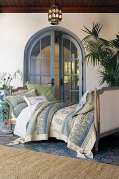 Marrakesh Express Quilt - Cotton and linen quilt with a bit of vintage flair | Soft Surroundings