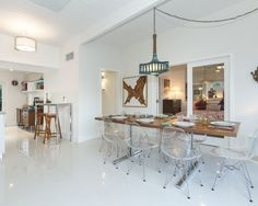 Clear modern dining chairs