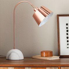 Block Lamp With Cream Shade