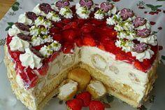 Windbeuteltorte mit Erdbeeren und Eierlikör 1