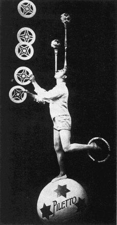 "Paolo Piletto, ""The German Rastelli,"" Vintage Circus Photos, Vintage Posters, Circus Ole, Circus Acts, Clowns, Circus Photography, Steampunk Circus, Pierrot Clown, Circo Vintage"