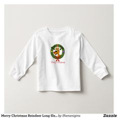 Merry Christmas Reindeer Long Sleeve T-Shirt