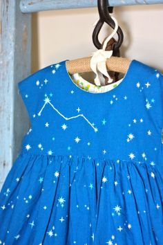 Cassiopeia Constellation Geranium dress