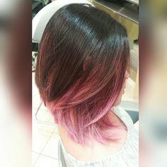 #Toronto #pinkhair #balayage #hairpost #hairpainting #freehand #balayageombre #pravana #pink #babypink #Pastels #vivids