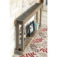Console & Sofa Tables You'll Love in 2020 Skinny Tables, Skinny Console Table, Narrow Console Table, Entryway Tables, Pallet Furniture, Rustic Furniture, Furniture Ideas, Primitive Furniture, Consoles